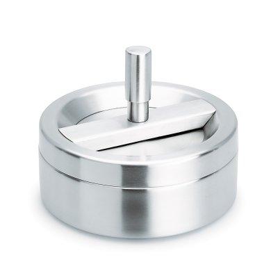 Askkopp med snurrlock EASY Matt stål, 8 cm