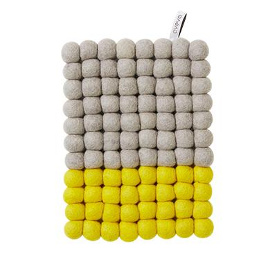 Aveva Design Grytunderlägg Aveva Dip Wool Rektangel 22 cm, Gul/Grå