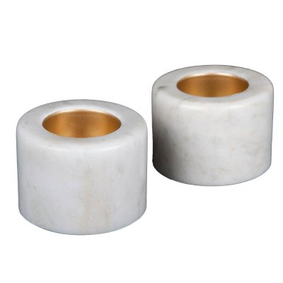 Svensk Marmor Ljushållare ljus Cozy 2-pack