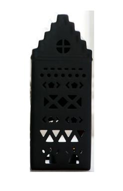 Bild av Ljuslykta/ljushus Majas Cottage Aztec liten 8x21 cm, Svart