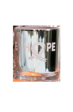 Bild av Ljuslykta Majas Cottage Hope liten 7x8 cm, Silver/Rosa