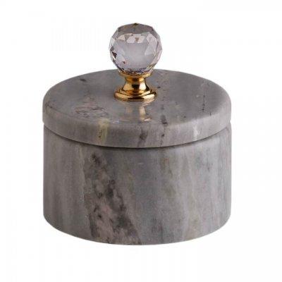Svensk Marmor Ask blå Crystal Blue Kristall/Guld
