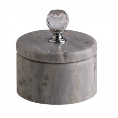 Svensk Marmor Ask blå Crystal Blue Kristall/Silver
