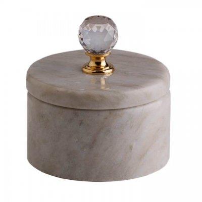 Svensk Marmor Ask ljus Light Crystal Kristall/Guld