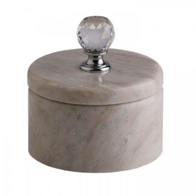 Svensk Marmor Ask ljus Light Crystal Kristall/Silver