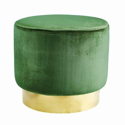 Sittpuff Roma Jakobsdals, Smaragdgrön