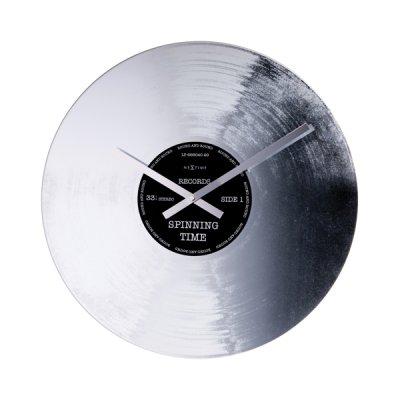NeXtime Väggklocka Silver Record
