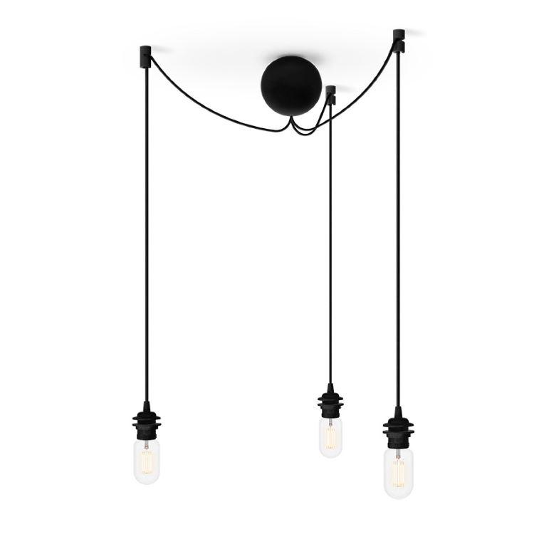 Lampa Cannonball Cluster 3 Svart VITA | Northmans.se
